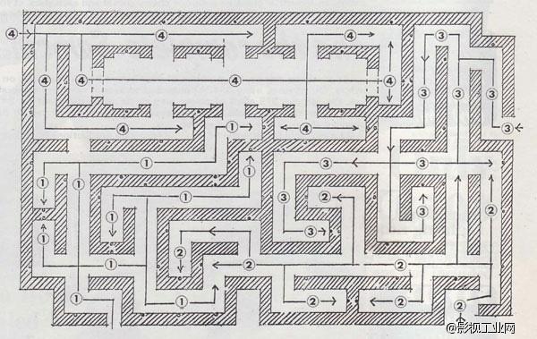 迷宫手绘平面图