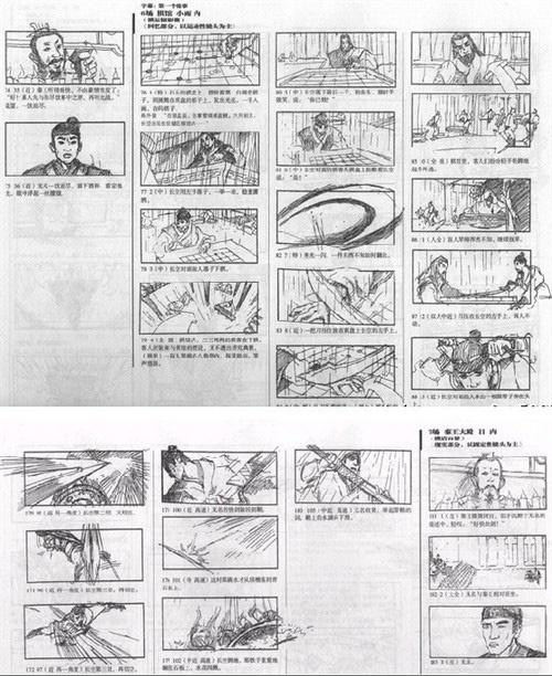 张艺谋在《英雄》里分镜头手绘笔记图