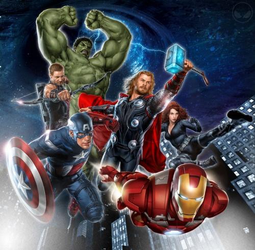 电影版《复仇者联盟》人物概念图-漫威电影宇宙