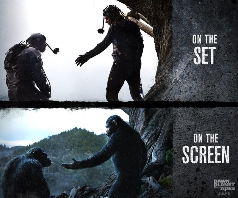 《猩球崛起:黎明之战 》特效前后对比