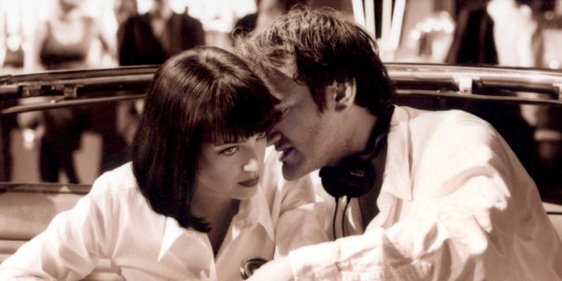 昆汀·塔伦蒂诺在《低俗小说》片场给乌玛·瑟曼耳语指导