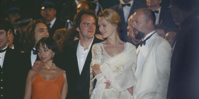 昆汀·塔伦蒂诺与乌玛·瑟曼在1994年戛纳国际电影节