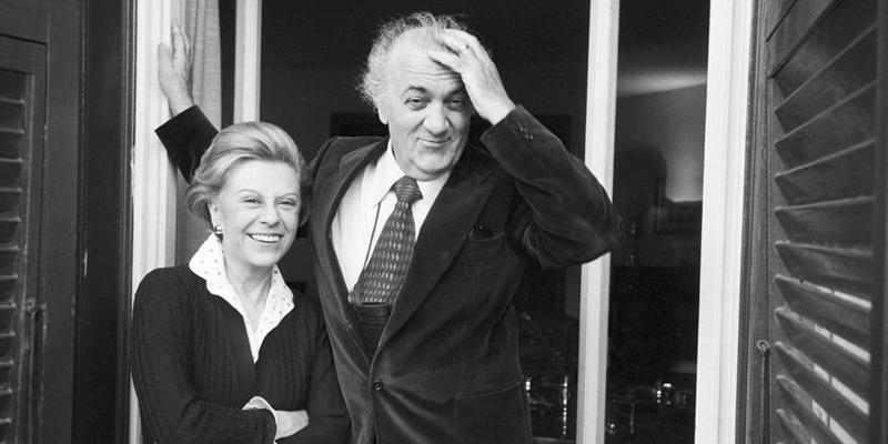 1980年4月14日的费里尼夫妇(图/Jack GAROFALO)