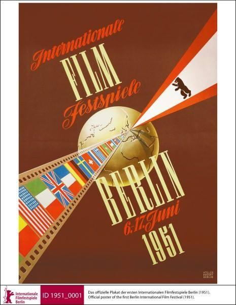 1951年第一届柏林电影节官方海报
