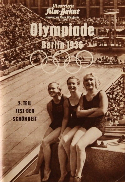 莱妮·里芬斯塔尔执导的影片《奥林匹亚》海报