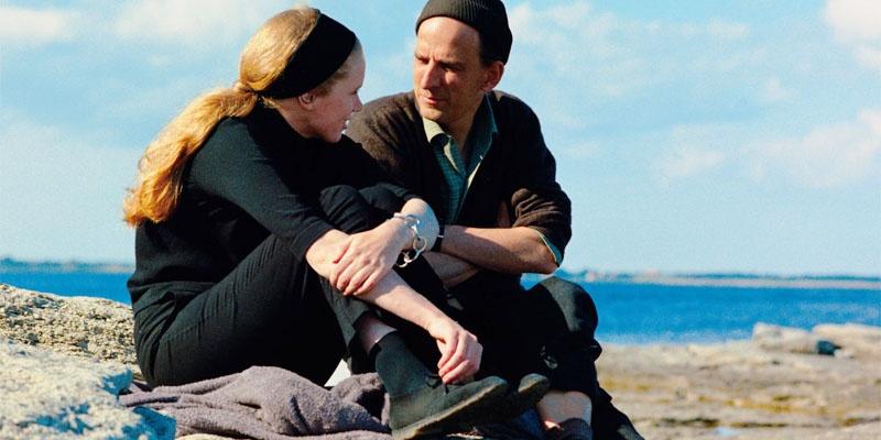《假面》工作照,丽芙·乌曼(左)和英格玛·伯格曼在(右)法罗岛片场
