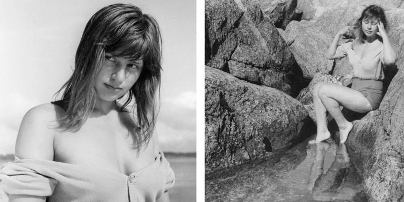 英格玛·伯格曼御用女演员之一哈里特·安德森在拍摄《不良少女莫妮卡》时的工作照