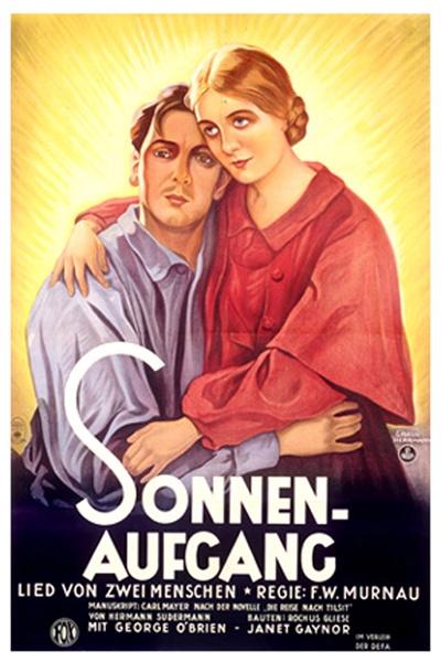 《日出》海报,本片被誉为最伟大的默片之一