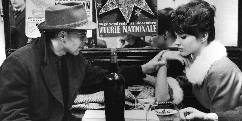 戈达尔和卡里娜拍摄《女人就是女人》的工作照