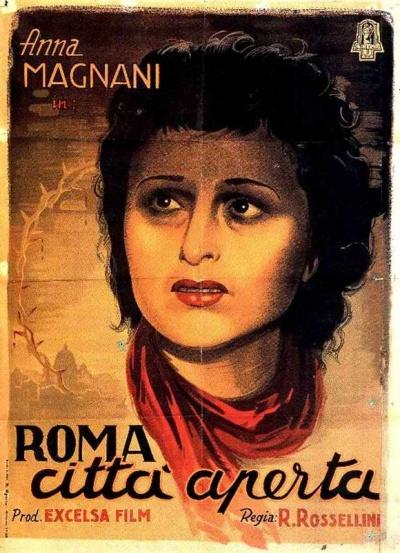 意大利新现实主义代表作品《罗马,不设防城市》海报