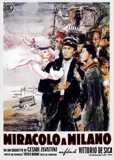 意大利新现实主义代表作品《米兰奇迹》海报