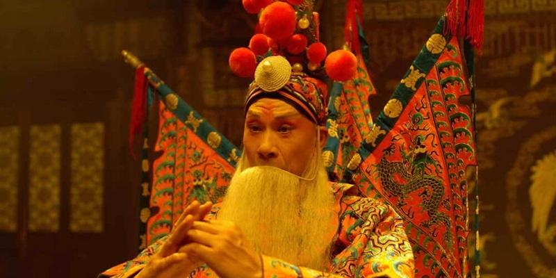 《梅兰芳》中王学圻的老生扮相
