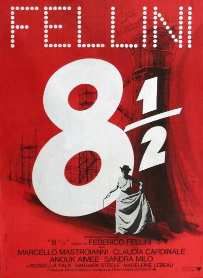 《八部半》法国版海报