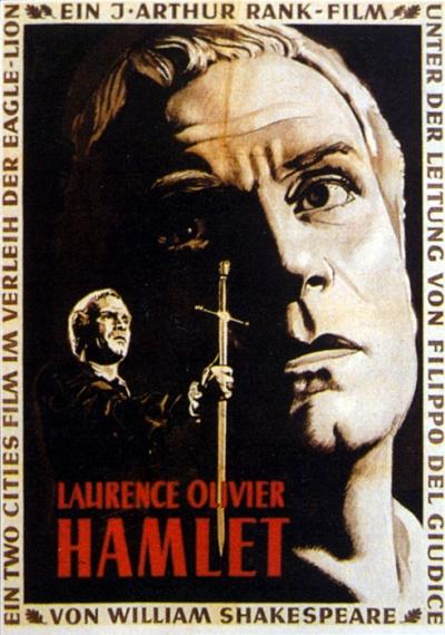 劳伦斯·奥利弗执导的《哈姆雷特》电影海报