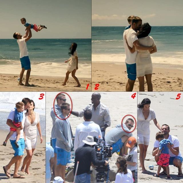片尾海滩这场戏几乎动用了上面所有手法,我们可以从图3-5看到两兄弟与替身演员相继上阵,再结合角度及镜头切换,最终实现了图1-2的完美成片效果