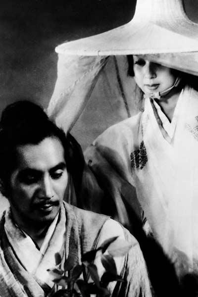 《罗生门》剧照,森雅之与京町子。